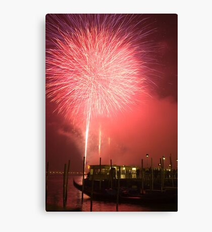 Fireworks in Venice Canvas Print