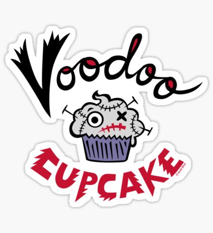 Voodoo Cupcake Sticker