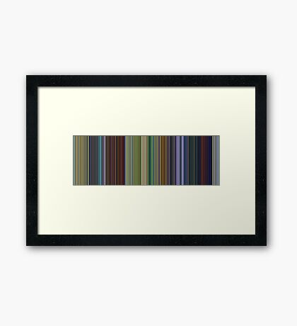 Moviebarcode: A Bug's Life (1998) [Simplified Colors] Framed Print