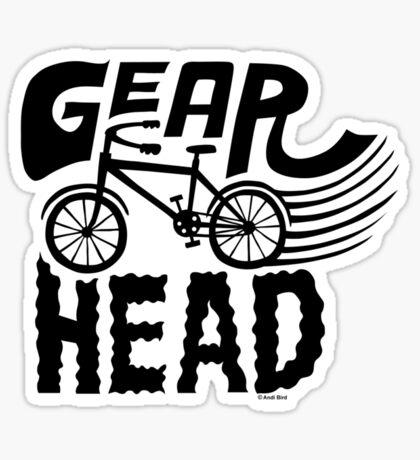 Gearhead -  black   Sticker
