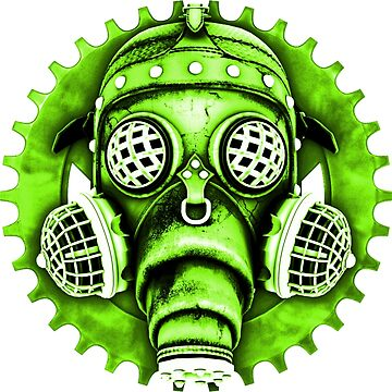Steampunk / Cyberpunk Gas Mask #1E Steampunk T-Shirts by SC001