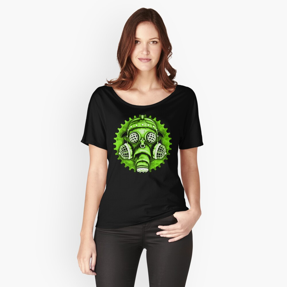 Steampunk / Cyberpunk Gas Mask #1E Steampunk T-Shirts Women's Relaxed Fit T-Shirt Front