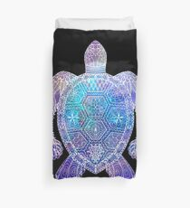 Space Sea Turtle Duvet Cover
