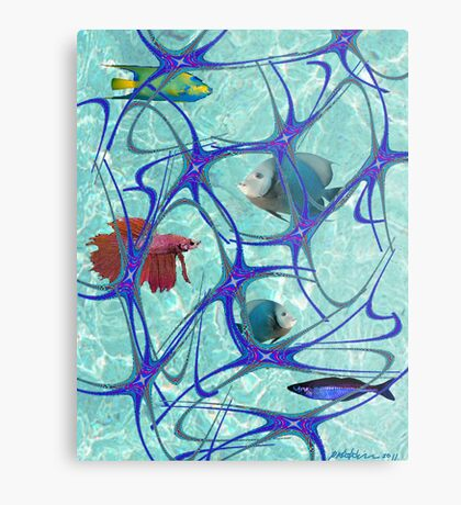"""Starfish Polka"" Metal Print"