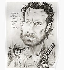 'Rick & Carl' caricature art by Sheik Poster