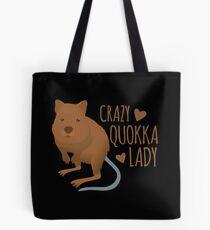 Crazy Quokka lady Tote Bag