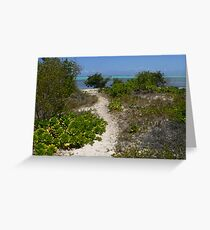 Path to the Grand Caymen Shore Greeting Card