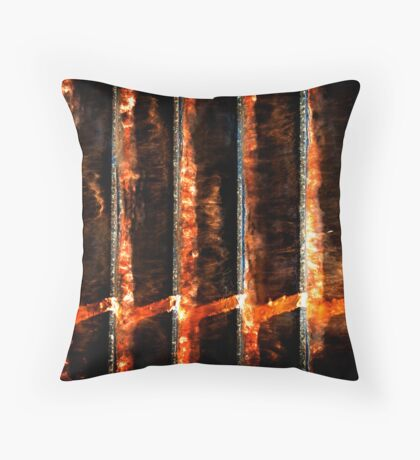 Lava Lines Throw Pillow