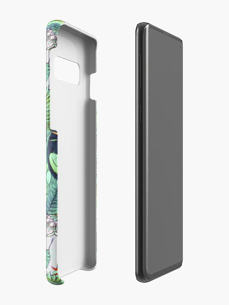 Alternate view of Little Elephant on a Jungle Adventure – faded vintage version Case & Skin for Samsung Galaxy