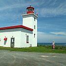 Caribou Island Lighthouse by Jann Ashworth