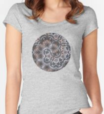 Sunset Branches – Spiral Mandala Women's Fitted Scoop T-Shirt