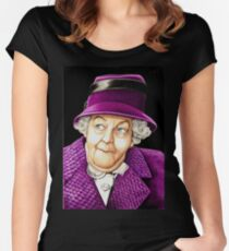 Margaret Rutherford plays Miss Jane Marple Fitted Scoop T-Shirt