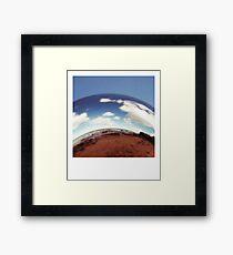 Sphere- Holga Framed Print