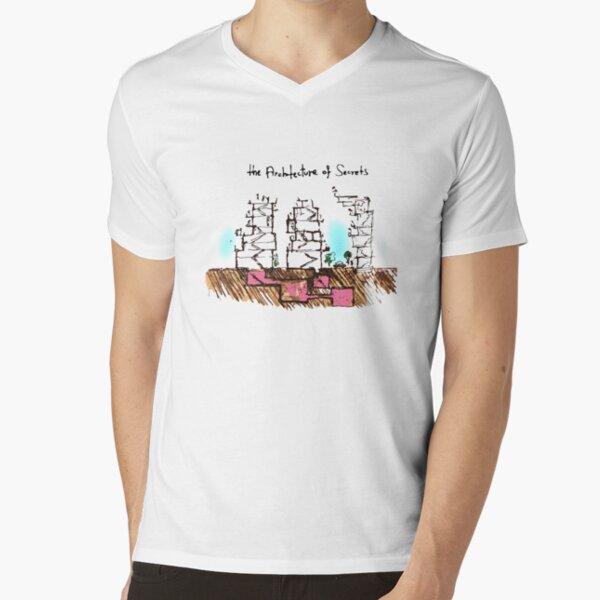the Architecture of Secrets V-Neck T-Shirt
