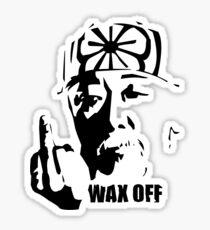 Miyagi Wax Off Shirt Sticker