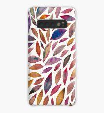 Diamantblätter - Herbstpalette Hülle & Klebefolie für Samsung Galaxy