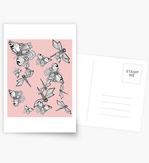 Dragonfly and butterfly - faith and truth Postcards