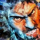 anger - a self portrait  by DARREL NEAVES