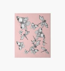 Dragonfly and butterfly - faith and truth Art Board Print
