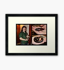 Creature Collage Framed Print