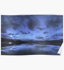 Twilight at Mawddach Estuary, Wales Poster