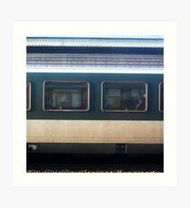 Vevey Station - The Commuters Art Print