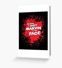 IN THE FACE !!! Greeting Card