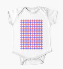 Red white and blue check One Piece - Short Sleeve