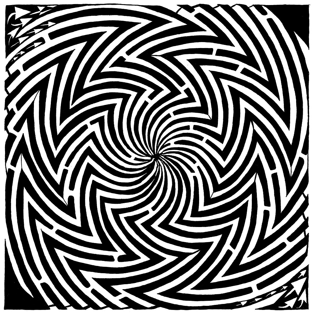 Optical Illusion Maze by Yonatan Frimer
