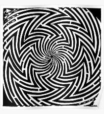 Optical Illusion Maze Poster