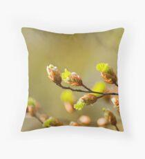Budding Leaves. Throw Pillow