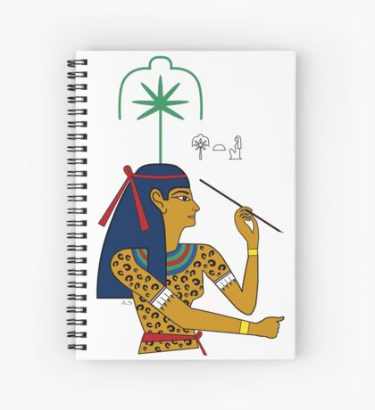 SESCHAT I Göttin Ägypten Schreiberin Spiralblock
