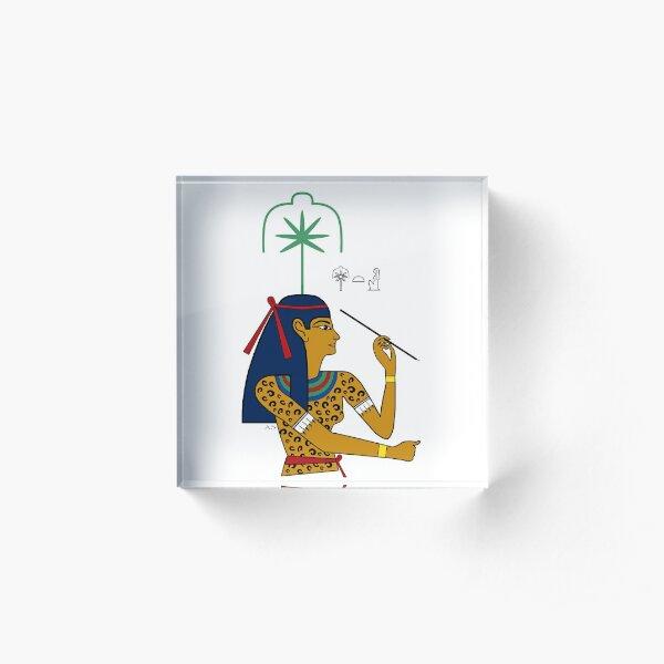 SESCHAT I Göttin Ägypten Schreiberin Acrylblock