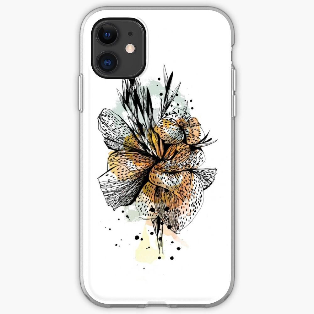Illustration fleur de lys Coque souple iPhone