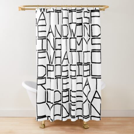 IWASLOOKIN... (BLACK TEXT) Shower Curtain
