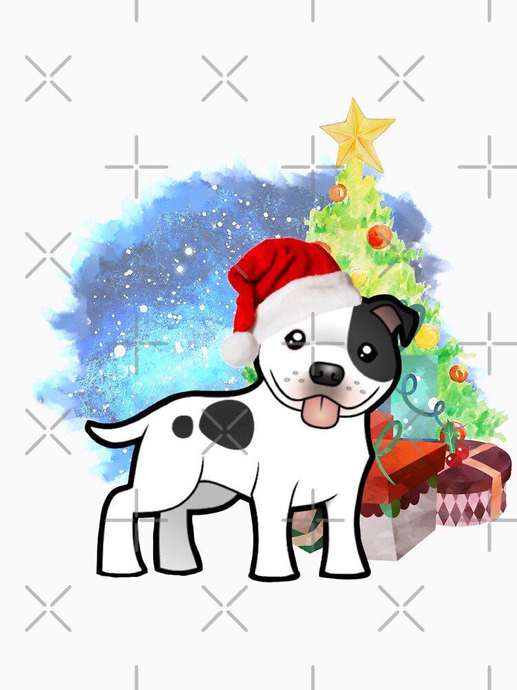 A Staffy Christmas by tribbledesign