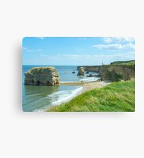 Marsden rock South Shields Canvas Print