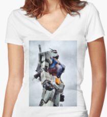 Gundam Pride Women's Fitted V-Neck T-Shirt