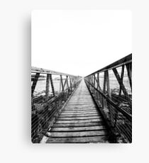 Bridge over still waters Canvas Print