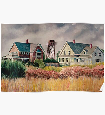 Mendocino Houses Poster