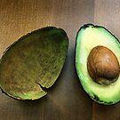 avocado still life.. by Michelle McMahon