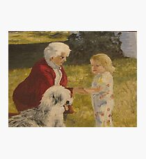 Nellie, Erika and Topper .. oil on canvas '76 Photographic Print