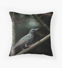 January Starling Throw Pillow
