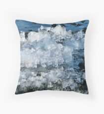 Ice Melt Sculture Throw Pillow