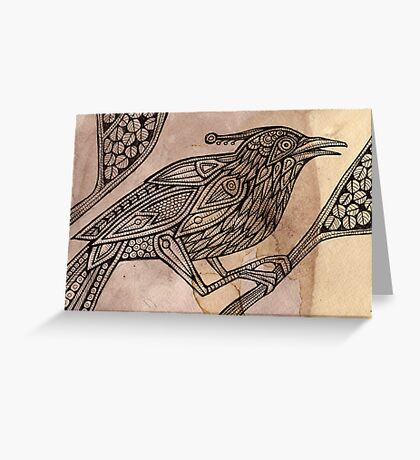 Totem Bird Greeting Card