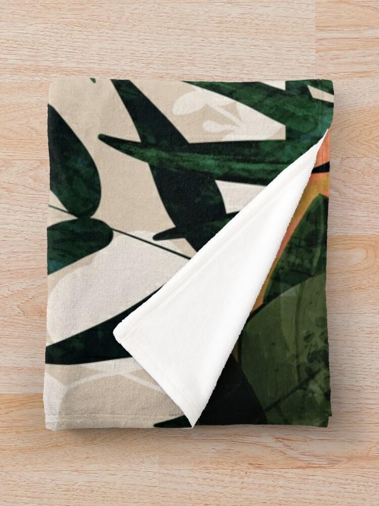 Alternate view of Cockatoo jungle modern Throw Blanket