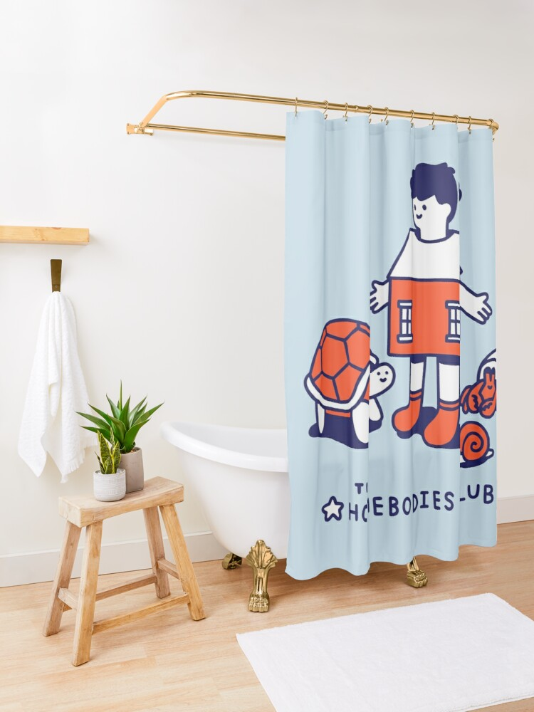 Alternate view of The Homebodies Club Shower Curtain