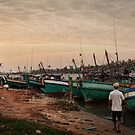 Fishing Boats, Kampot by Kerry Duffy