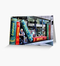 into books Greeting Card