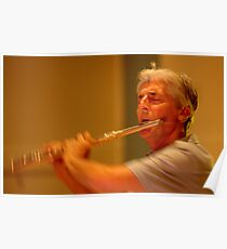 Terry Oldfield - The Flute Player Poster
